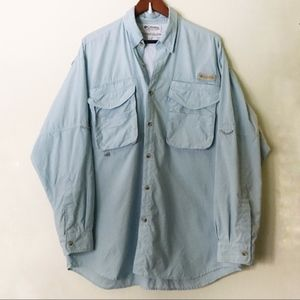 Columbia // Ventilated Button Down Fishing Shirt L